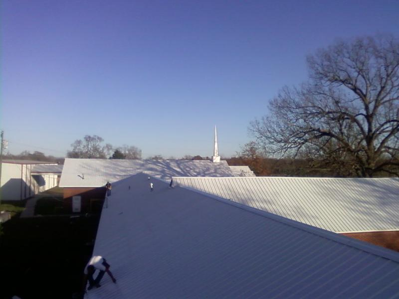 white metal roof installation december 2009