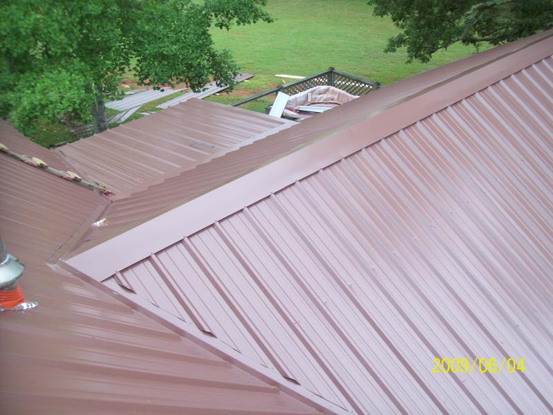 metal roof  vented ridge cap view