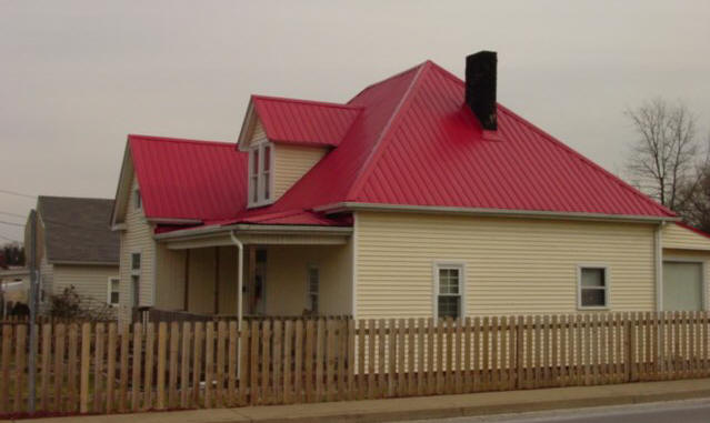red metal roof system